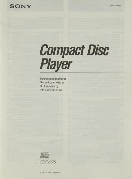 Sony CDP-970 Bedienungsanleitung