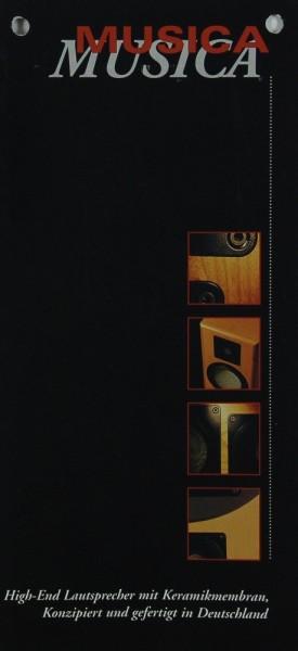 Musica High-End Lautsprecher mit Keramikmembran Prospekt / Katalog