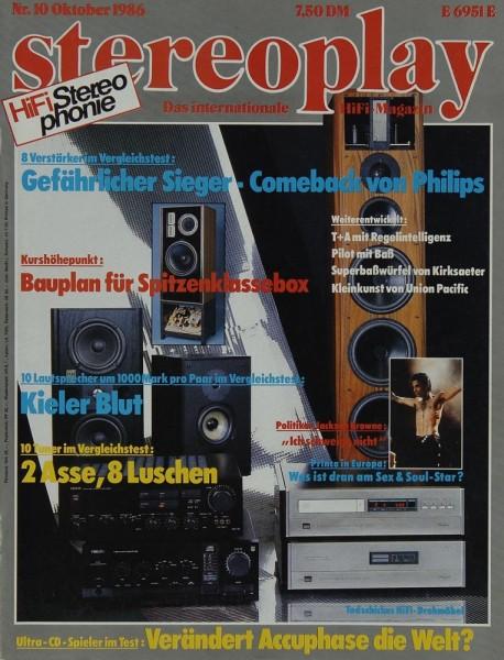 Stereoplay 10/1986 Zeitschrift