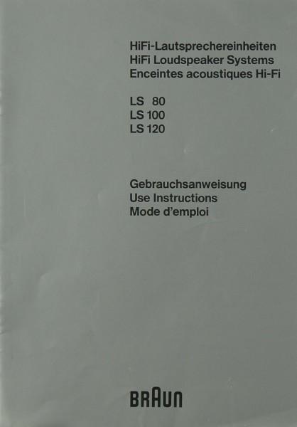 Braun LS 80 / LS 100 / LS 120 Bedienungsanleitung
