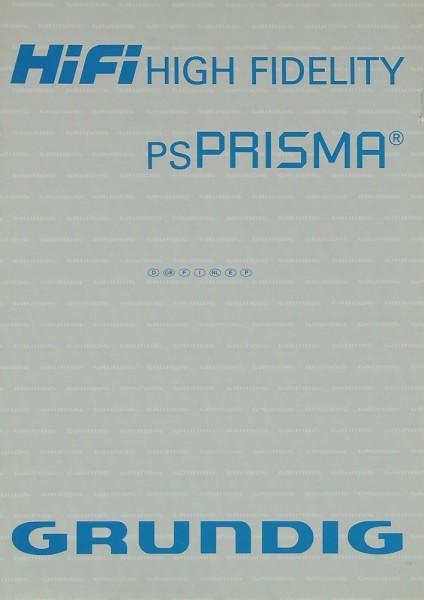 Grundig PS PRISMA Bedienungsanleitung
