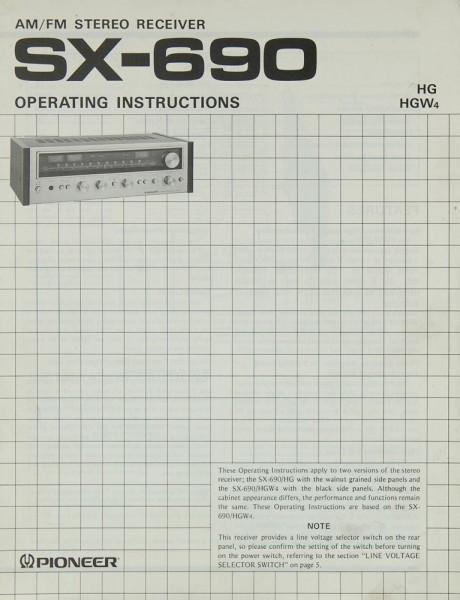 Pioneer SX-690 Bedienungsanleitung