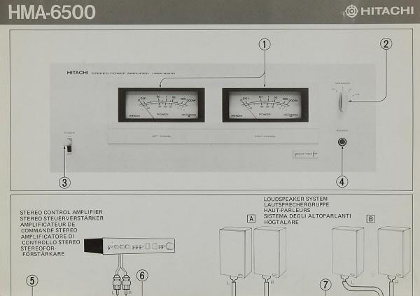 Hitachi HMA-6500 Bedienungsanleitung