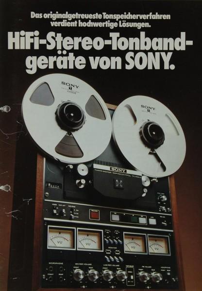 Sony Hifi-Stereo-Tonbandgeräte von Sony Prospekt / Katalog