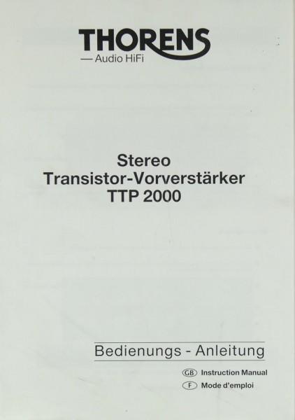 Thorens TTP 2000 Bedienungsanleitung