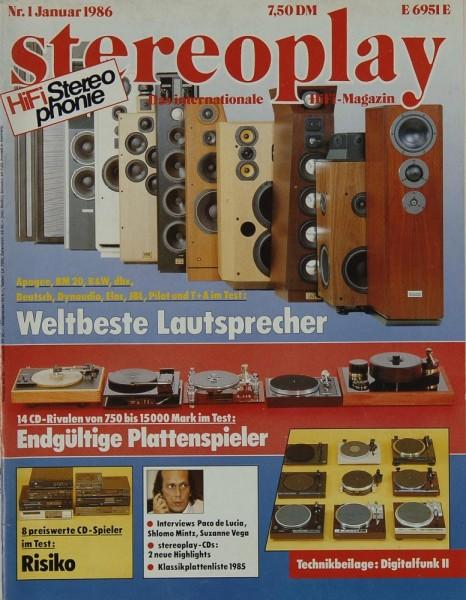 Stereoplay 1/1986 Zeitschrift
