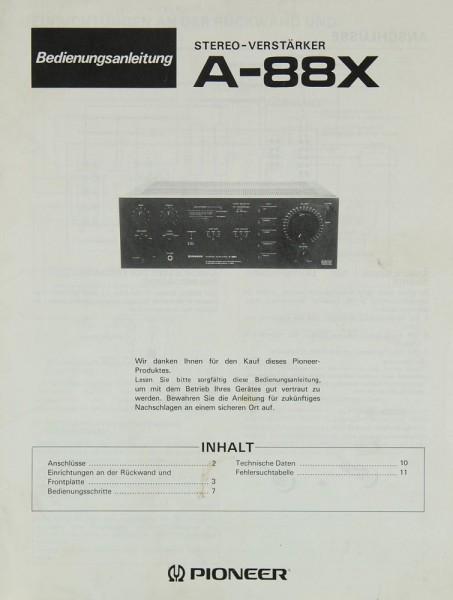 Pioneer A-88 X Bedienungsanleitung