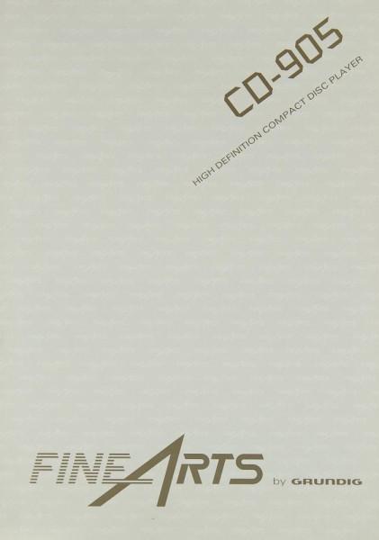 Grundig CD-905 Bedienungsanleitung