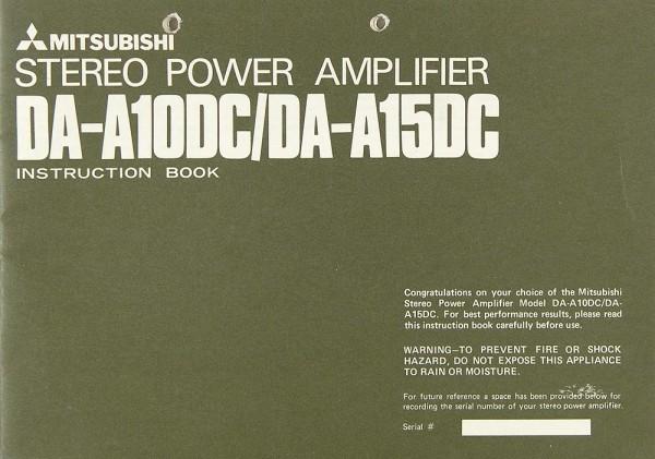 Mitsubishi DA-A 10 DC / DA-A 15 DC Bedienungsanleitung