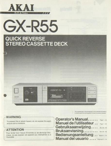 Akai GX-R 55 Bedienungsanleitung