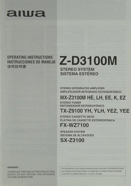 Aiwa Z-D 3100 M Bedienungsanleitung