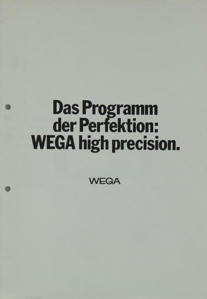 Wega High Precision Prospekt / Katalog