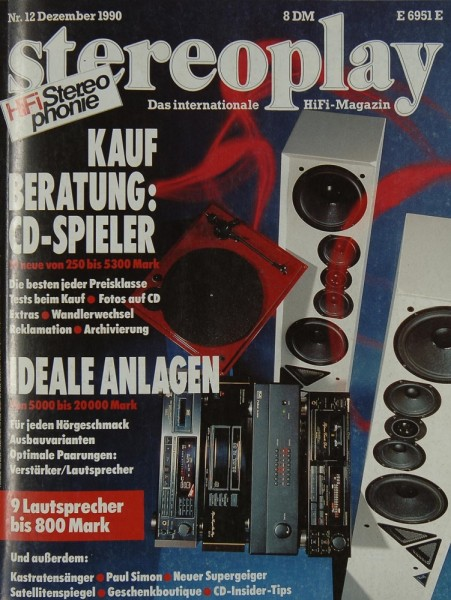 Stereoplay 12/1990 Zeitschrift