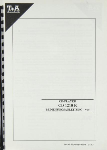 T + A CD 1210 R Bedienungsanleitung
