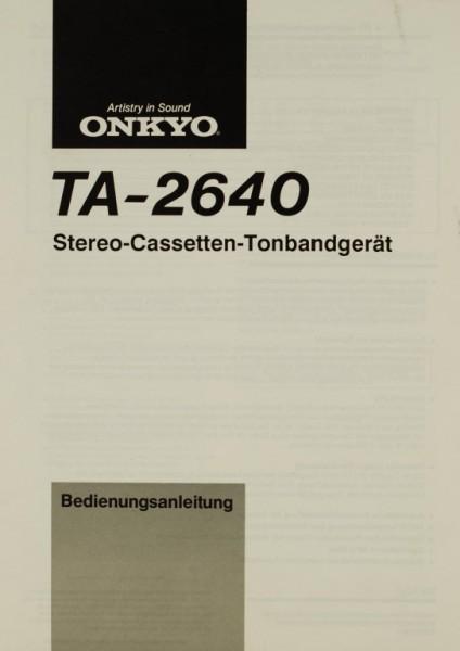 Onkyo TA-2640 Bedienungsanleitung