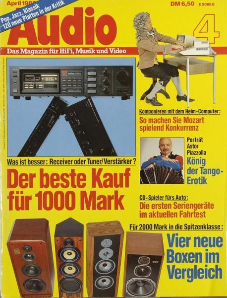 Audio 4/1985 Zeitschrift