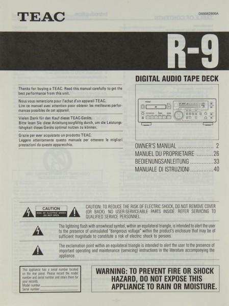 Teac R-9 Bedienungsanleitung