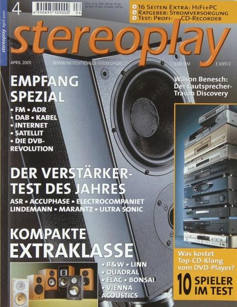 Stereoplay 4/2001 Zeitschrift