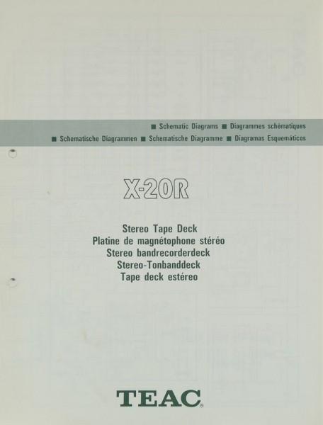 Teac X-20 R Service + Schaltpläne
