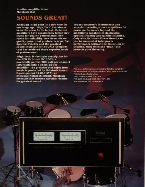 McIntosh Sounds Great! MC 2002 Prospekt / Katalog