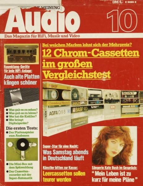 Audio 10/1982 Zeitschrift