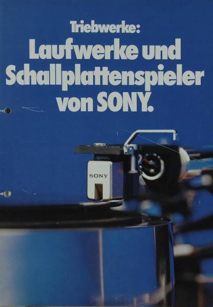 Sony Laufwerke & Schallplattenspieler von Sony Prospekt / Katalog