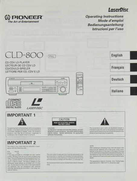 Pioneer CLD-800 Bedienungsanleitung