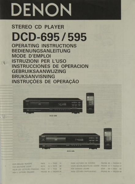 Denon DCD-695 / 595 Bedienungsanleitung