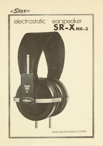 Stax SR-X MK-3 Bedienungsanleitung