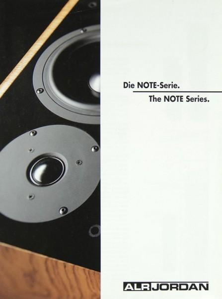 ALR / Jordan Note Series Prospekt / Katalog