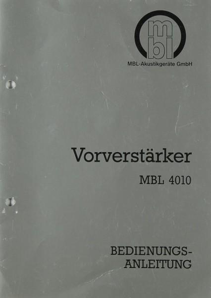 MBL MBL 4010 Bedienungsanleitung