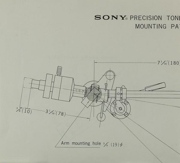Sony PUA-237 / PUA-286 Justageschablone