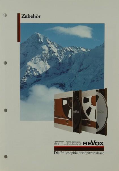 Revox Zubehör Prospekt / Katalog