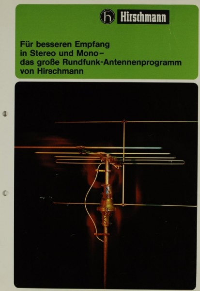 Hirschmann Das große Rundfunk-Antennenprogramm Prospekt / Katalog