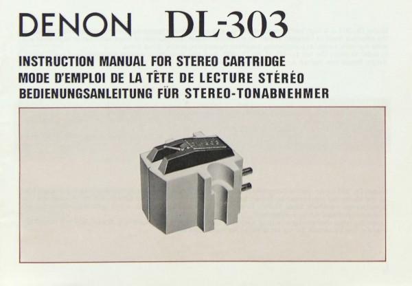 Denon DL-303 Bedienungsanleitung