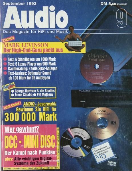 Audio 9/1992 Zeitschrift
