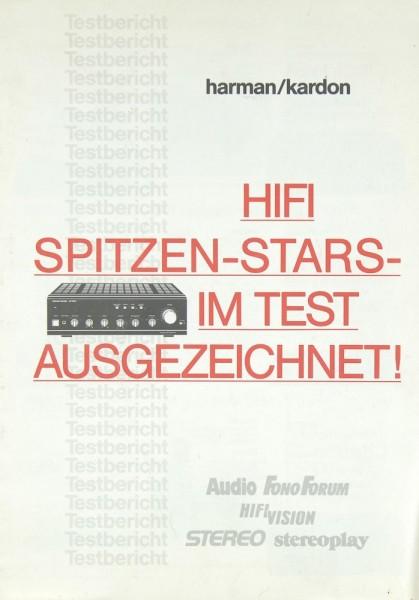 Harman / Kardon Diverse Testergebnisse 84-89 Testnachdruck