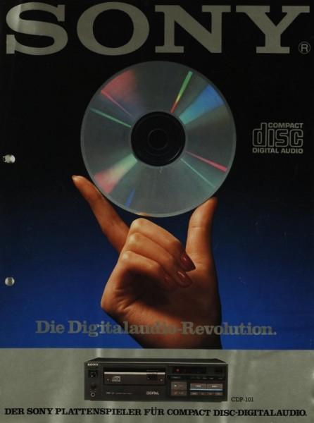 Sony CDP-101 Prospekt / Katalog