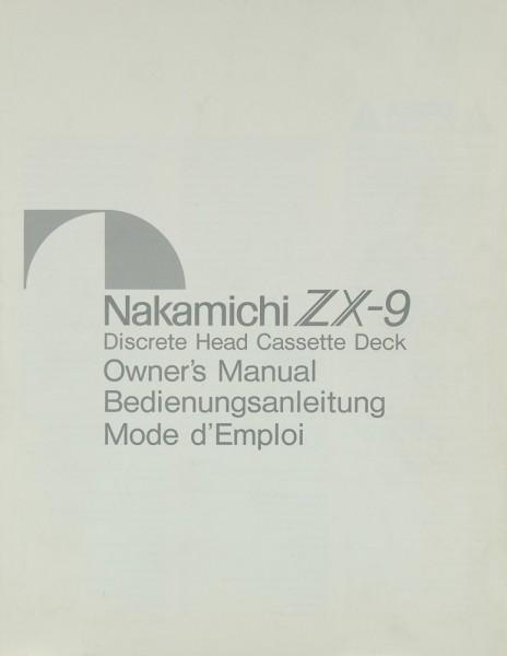 Nakamichi ZX-9 Bedienungsanleitung