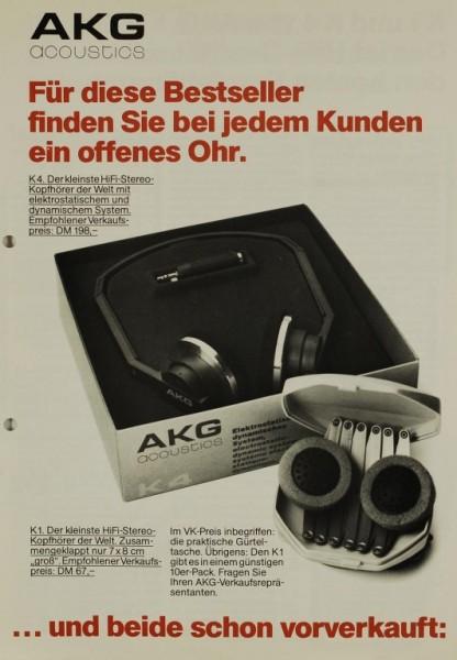 AKG acoustics K4 / K1 Prospekt / Katalog