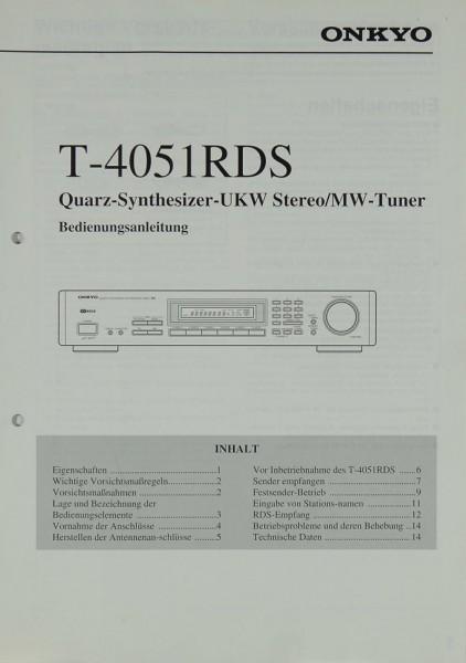 Onkyo T-4051 RDS Bedienungsanleitung