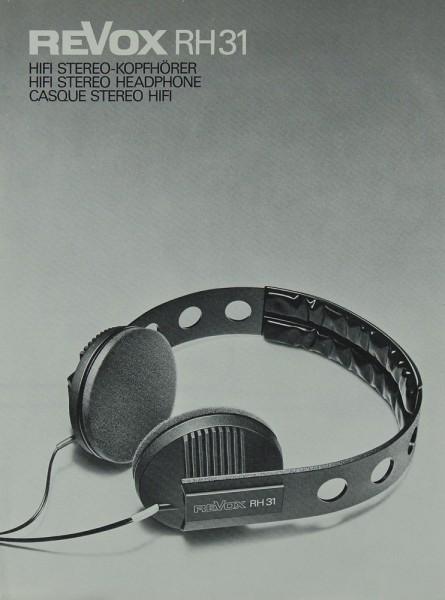 Revox RH 31 Prospekt / Katalog