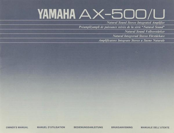 Yamaha AX-500 Bedienungsanleitung