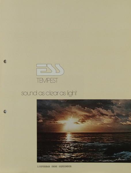 ESS Tempest Prospekt / Katalog