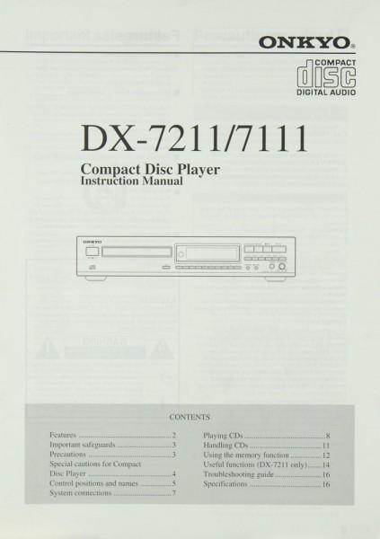 Onkyo DX-7211 / DX-7111 Bedienungsanleitung