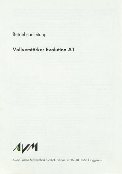 AVM Evolution A 1 Bedienungsanleitung