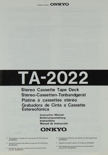 Onkyo TA-2022 Bedienungsanleitung
