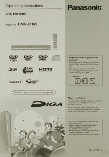 Panasonic DMR-EH 65 Bedienungsanleitung