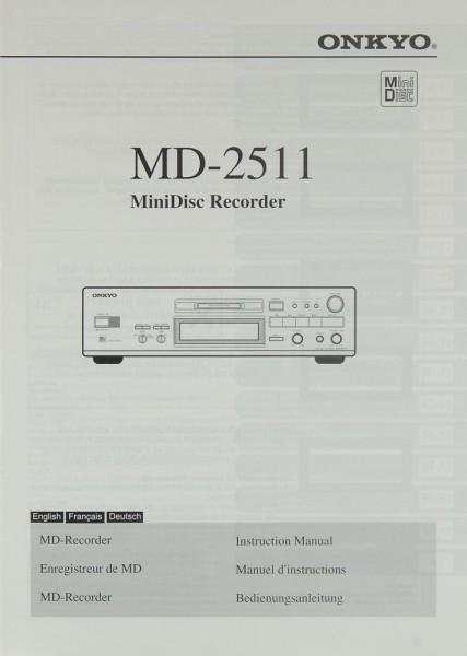 Onkyo MD-2511 Bedienungsanleitung