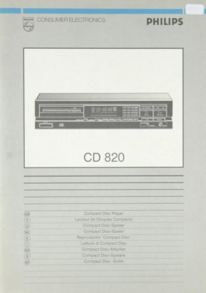 Philips CD 820 Bedienungsanleitung